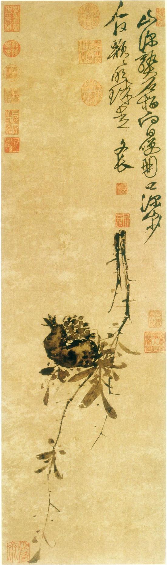 徐渭,《榴实图》,台北故宫藏