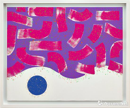 萧勤《光之跃动17》压克力彩画布 130×160cm 1964年作 2017年香港苏富比以598万港元成交,刷新了艺术家拍卖纪录