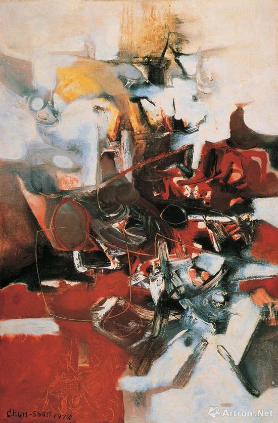 李仲生《抽象》38×52.8cm油画画布 1978年作