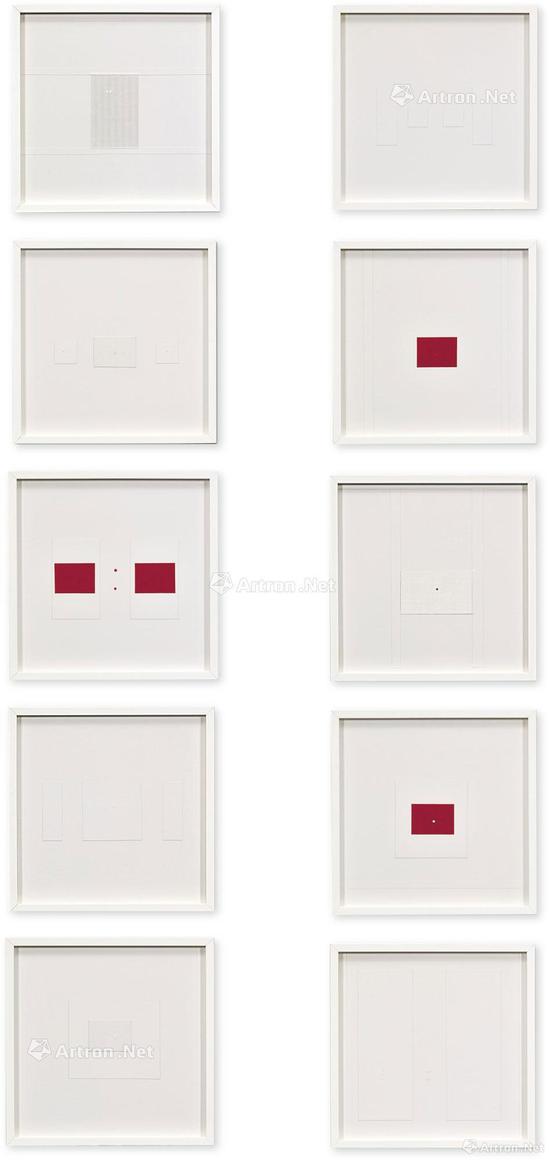 李元佳 《宇宙点之研究 (十件)》 综合媒材  约1962年作 2017年香港苏富比秋拍以175万港元成交,刷新了艺术家拍卖纪录
