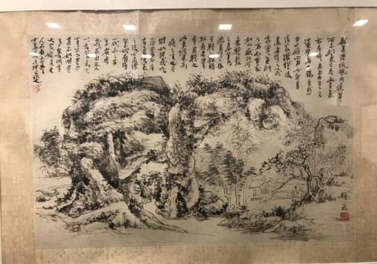 黄宾虹长题顾飞山水(浙江博物馆收藏)