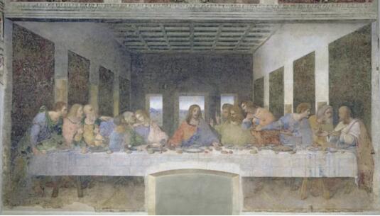 莱昂纳多达芬奇《最后的晚餐》,1498年作,米兰恩宠圣母教堂