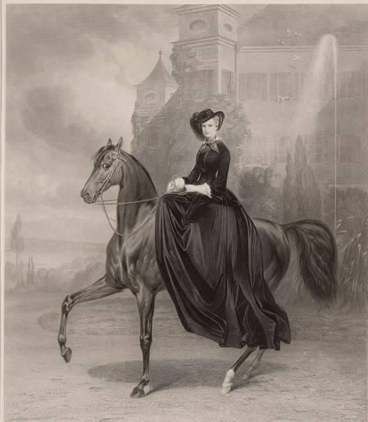 ▲茜茜公主骑马画像