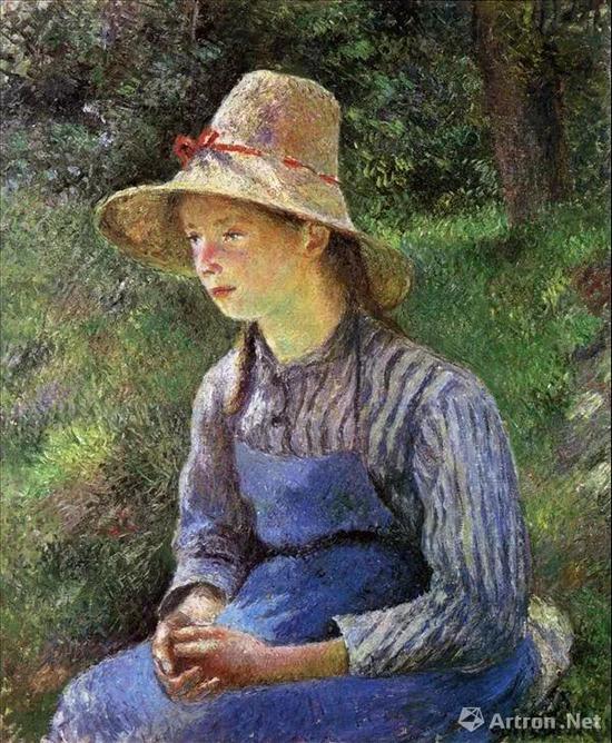 ▲毕沙罗 《戴帽的农村少女》