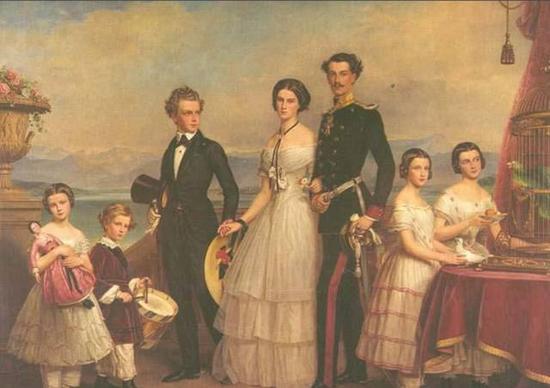 ▲茜茜公主和她的兄弟姐妹