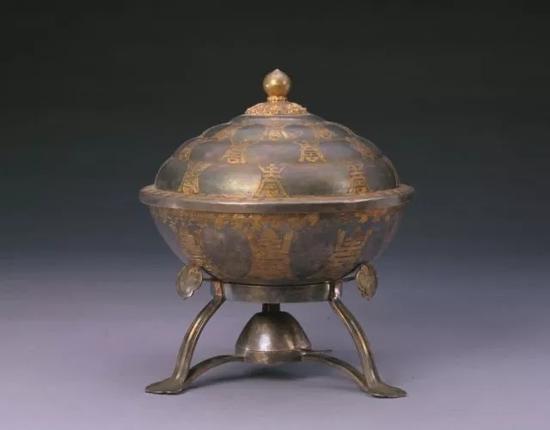 银镀金寿字火碗  故宫博物院收藏