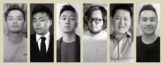 青年藏家(左起:周大为、林瀚、陆寻、周艟、赵屹松、黄予)