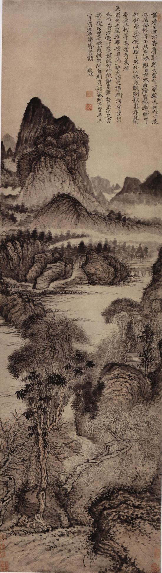 古木垂荫图