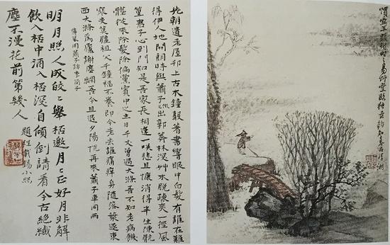 张大千伪托石涛独钓图 27.6X21.2 北京故宫博物院