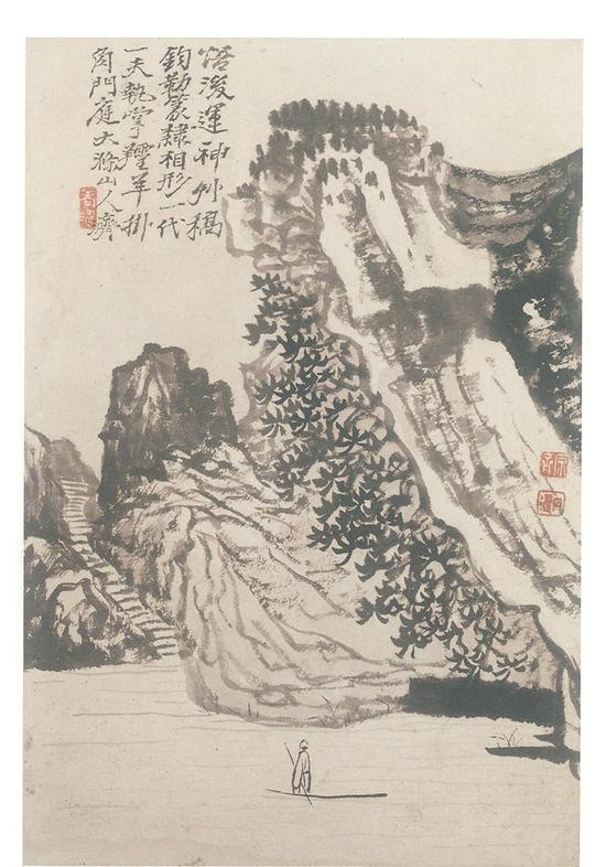 十二开苦瓜老人三绝册之七 香港佳士得 2007年秋拍