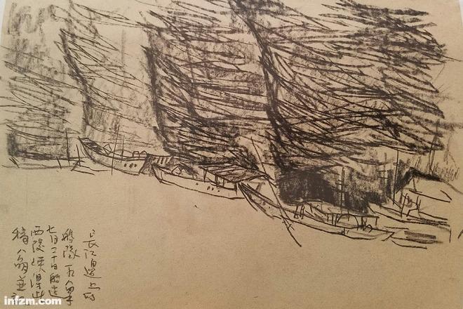 长江边的船队1984年7月20日船过西陵峡(李公明/图)