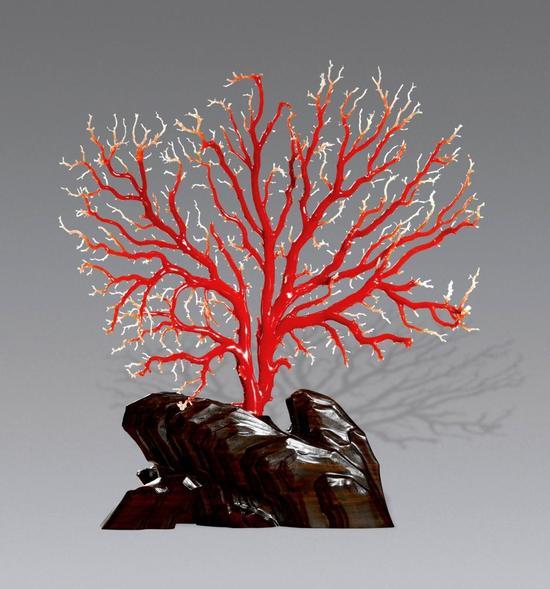 珊瑚树摆件 高30cm