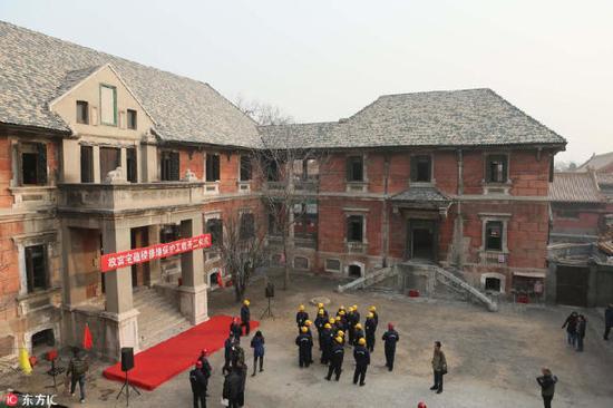2013年,宝蕴楼展开为期一年半的修缮。(图片来源:东方IC)