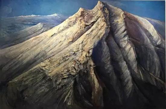 神圣山水—昆仑精神 200x300cm 2012-2014年