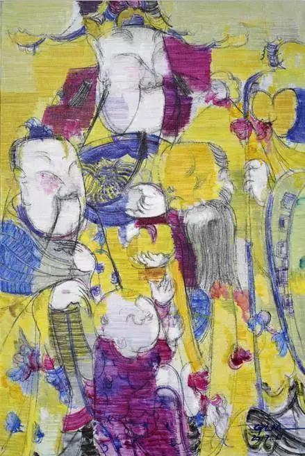 《福、禄、寿》90x60cm,布面油彩,2017