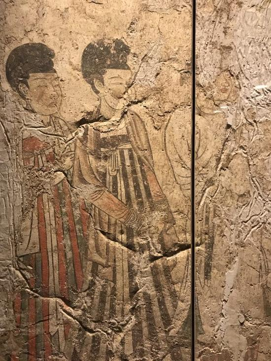 曲江艺术博物馆展出唐代壁画