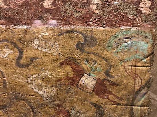 曲江艺术博物馆展出的汉代壁画