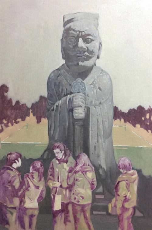 《石刻温度》90×60cm 布面油画 2013年