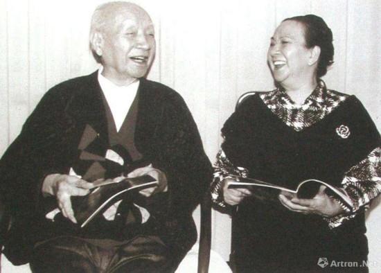 刘海粟与妻子夏伊乔