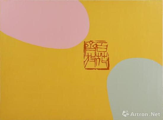 香格纳画廊 刁德谦作品:Seal 1 印章 1  绘画布面丙烯,丝网印刷  2017  137x183cm