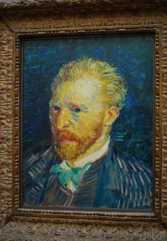 奥赛博物馆的梵高《自画像》