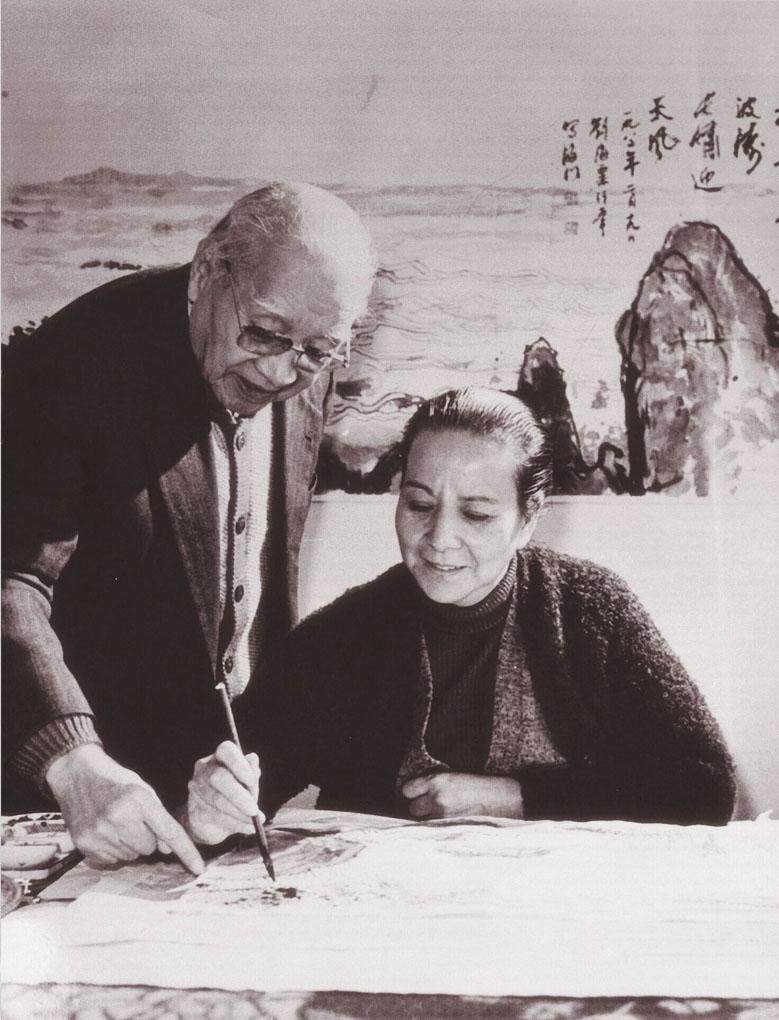 刘海粟与夫人夏伊乔