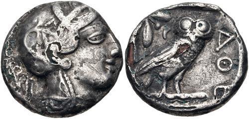 公元前5世纪末雅典紧急发行的包银钱币