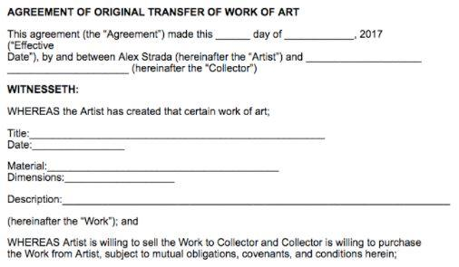 Alex Strada,《合同》细节