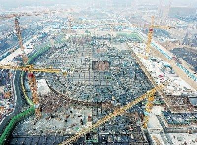 """郑州博物馆新馆以象征黄帝文明的""""冕冠""""作为设计原型,将成为城市会客厅。"""