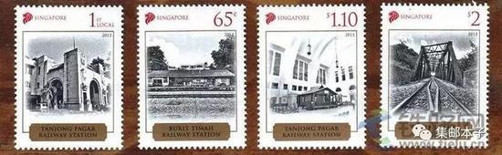 ▲ 2013年《新加坡老火车站》邮票