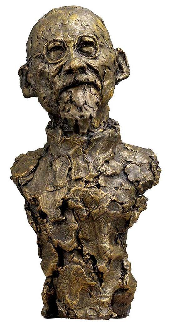 司徒安 黄宾虹 48cmx22cmx10cm 铸铜 2008年
