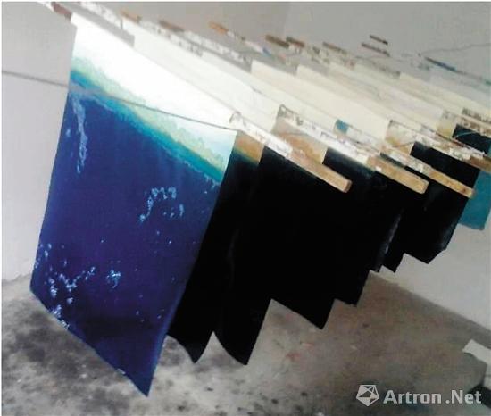 实验室制作的瓷青纸纸样