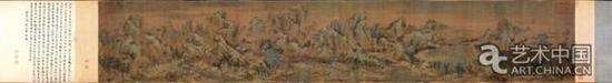 《江山秋色图》南宋 赵伯驹 长卷 绢本设色 56.6X323.2厘米 北京故宫博物院藏