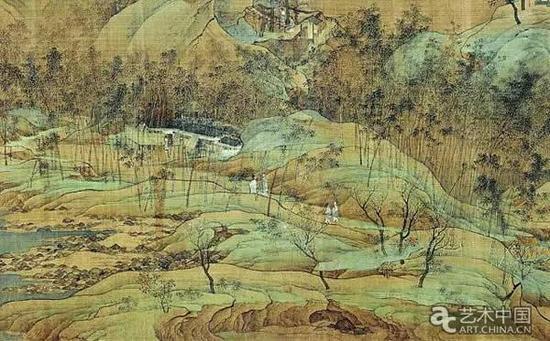 《江山秋色图》局部
