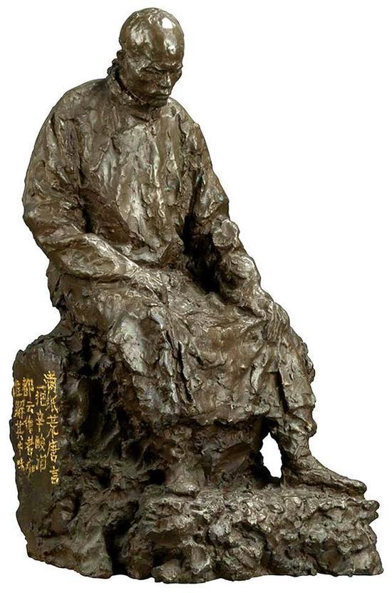 司徒安 曹雪芹 33cmx27cmx60cm 铸铜 2007年