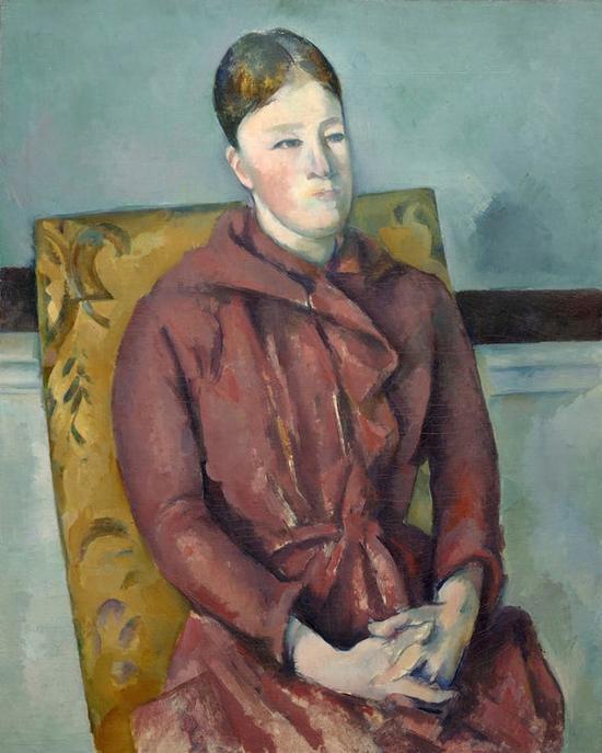 塞尚妻子,1888-90年