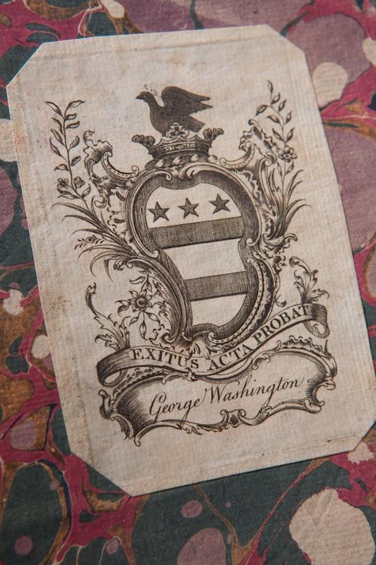 环衬页华盛顿藏书票清晰版