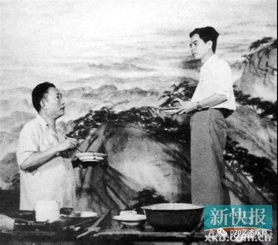 1959年,关山月与傅抱石合作《江山如此多娇》