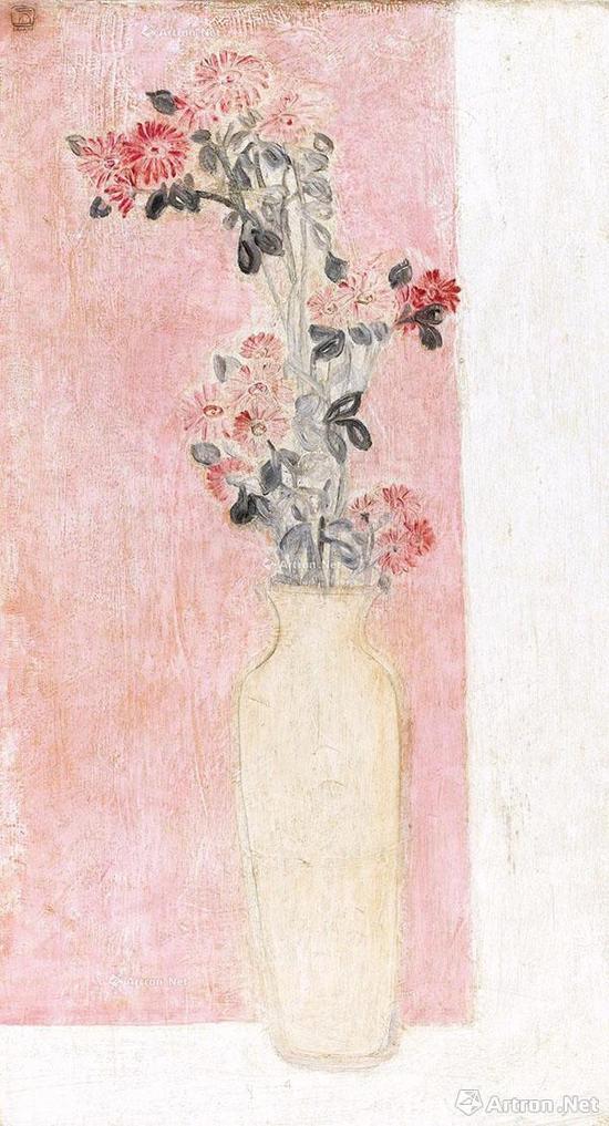 常玉《粉瓶小野菊》以5072.5万港元由佳士得香港珠宝部主管的电话委托竞得