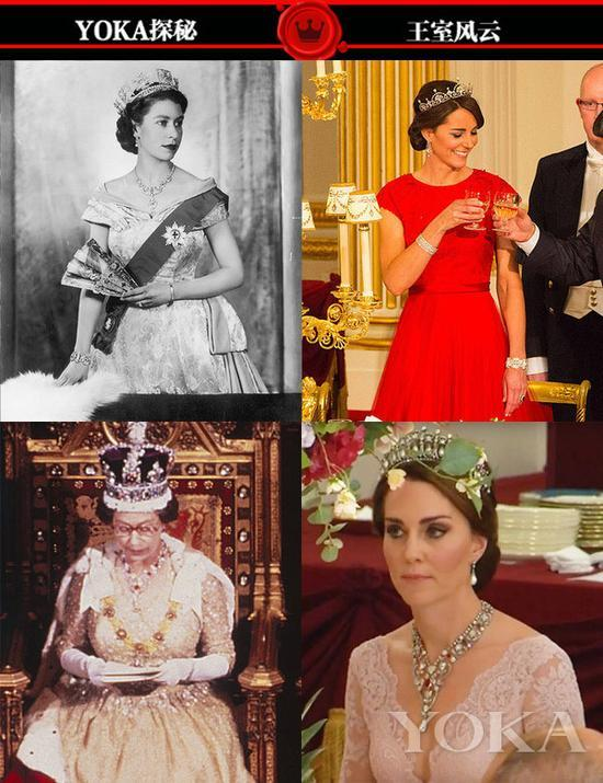 英女王的古董珠宝 都被凯特翻出来一件件戴上