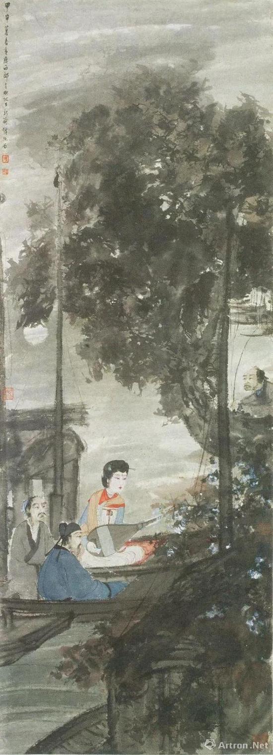 傅抱石,《琵琶行》,1944年作,南京博物院