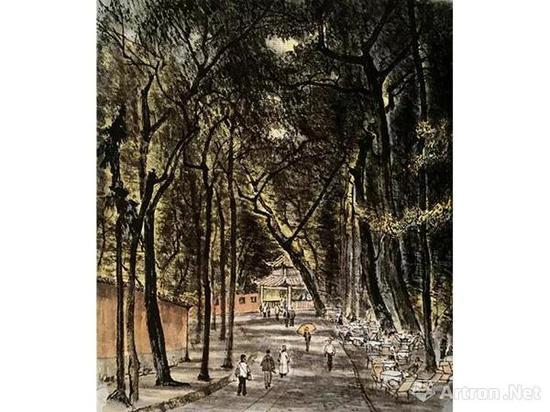 《灵隐茶座》1956年作?北京画院藏