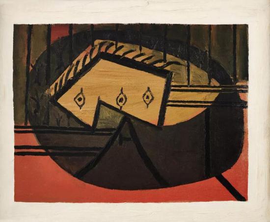 巴布罗·毕加索《头像》1927-28年作   油彩画布   60 x 73 公分