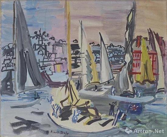 拍品编号165 劳尔·杜菲 (1877-1953) 《多维尔的帆船赛》