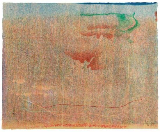 海伦·弗兰肯特尔,《Cedar Hill》, 1983年
