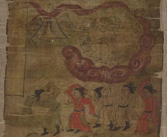 绘画中的镇邪崇正的雷神