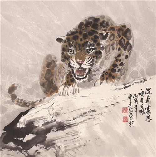 《雪原啸风》 68×68cm 1986年