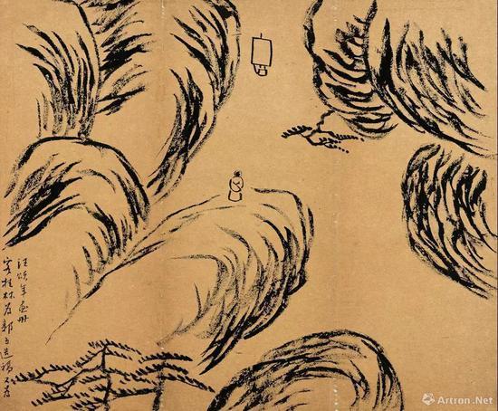 齐白石 客桂林造稿 纸本墨笔 33.5cm×40.5cm 1905年 北京画院藏