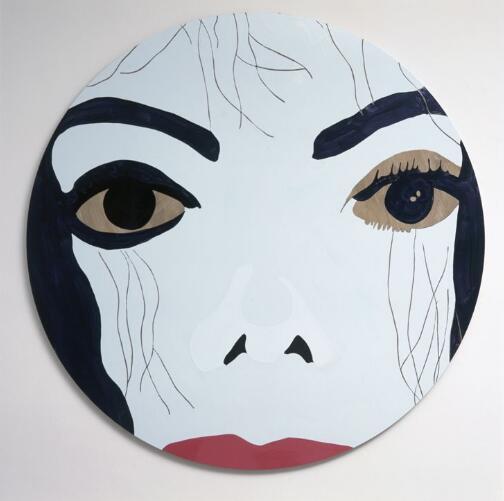 Gary Hume创作的迈克尔·杰克逊肖像。