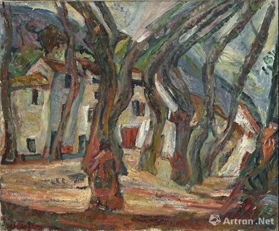 拍品编号17 柴姆·苏丁 (1893-1943) 《塞雷的自由之地》